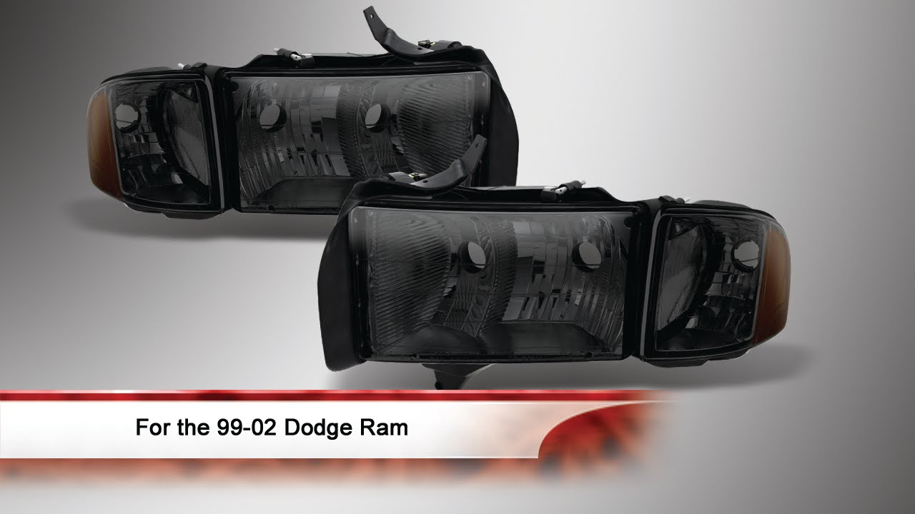 99 02 dodge ram sport model only oem style headlights youtube 99 02 dodge ram sport model only oem style headlights publicscrutiny Image collections