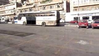 ヨルダン・アンマン キングフセイン通りのバスターミナル