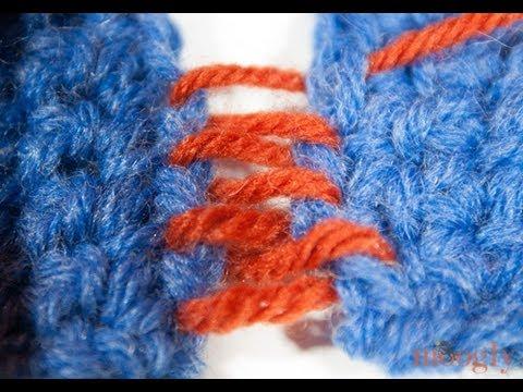 How to Crochet: Mattress Stitch Seaming - YouTube