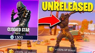 MY FAN SHOWS ME UNRELEASED CLOAKED STAR SKIN! (Fortnite)