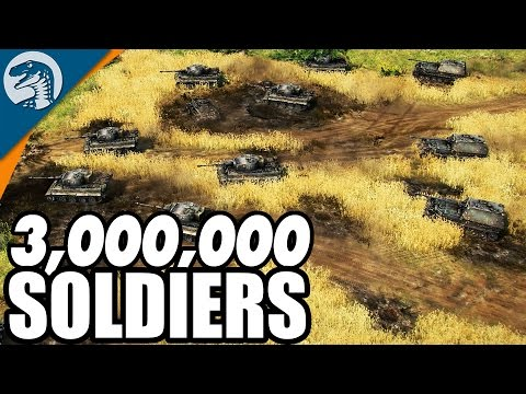 LARGEST BATTLE IN HISTORY, 3,000,000 TROOPS   Blitzkrieg 3 Gameplay