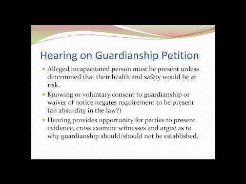 Adult Guardianship in Indiana: What Case Managers, Caregivers and Advocates Need to Know