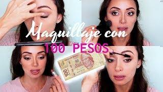 Reto Me Maquillo con $100 MXN    Caro Montero