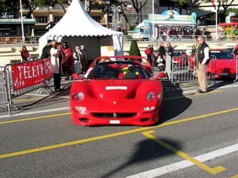 Ferrari F50 insane sound in Monaco !