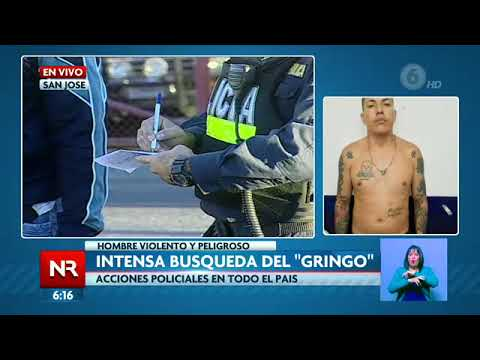 """Intenso operativo de búsqueda para dar con el """"Gringo"""""""