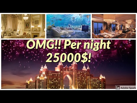 Atlantis hotel – Palm jumeirah, dubai- per night 25,000$!