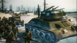 Frozen River - Company of Heroes 2 - E3 2013 Gameplay