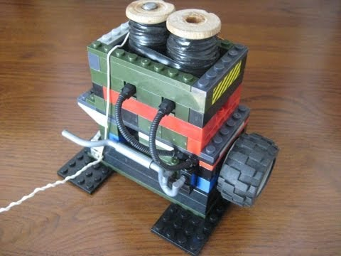 Lego Homemade 2 Cylinder Solenoid Electric engine
