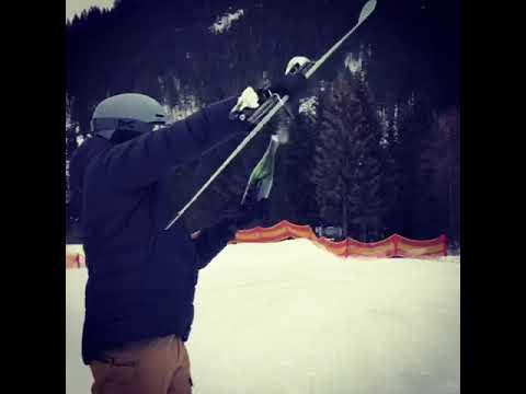 Champagne Sabrage With Ski!