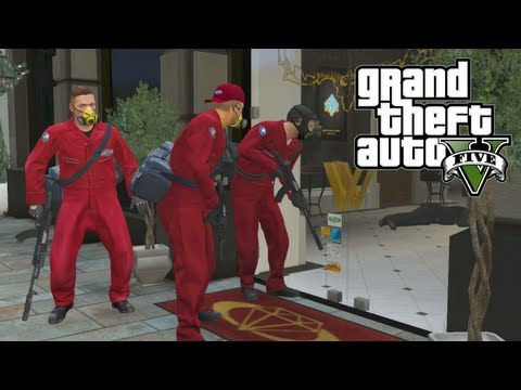 GTA 5 - EPIC Jewelry Store Robbery - How To Set Up Heist Missions (GTA V)