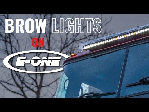 FireTech Brow Lights on E-One Fire Trucks