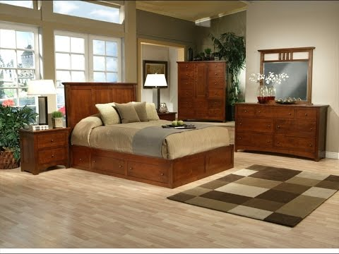 Solid Wood Bedroom Furniture Packages Prices Online - YouTube