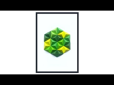 Geometric Origami Wall Art