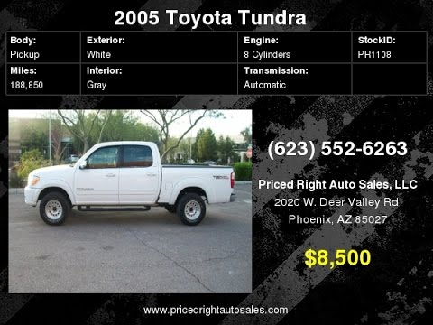 2005 Toyota Tundra SR5 TRD Off Road 4 Doors Nerf Bars Power Seat PR1108