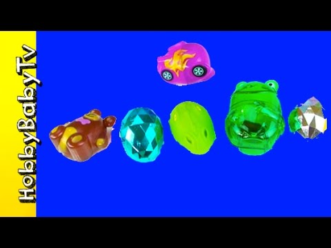 Surprise Eggs! Kinder Guess the Word + Learn to Read, Spelling Food Lesson 5 HobbyBabyTV