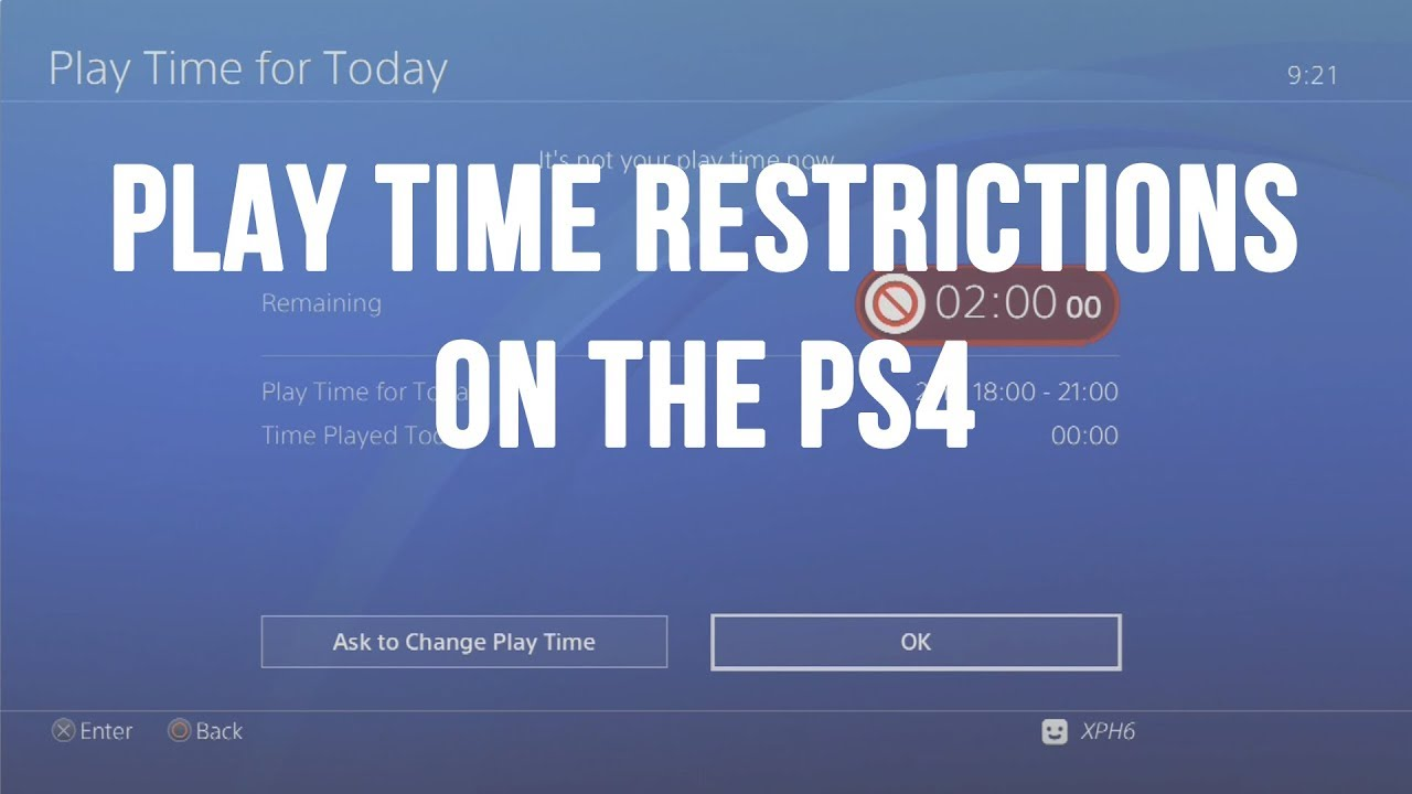 PS4 - Managing Play Time: Restrict Your Children from Spending Hours on  Fortnite!