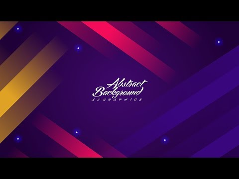 Coreldraw x7 Tutorial | Colorful background with abstract style