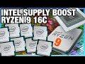 HW News - Intel Shortage Ending, Ryzen 9 16-Core, & AMD Supercomputer