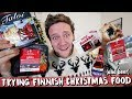 - TRYING FINNISH CHRISTMAS FOOD, BEER, GLÖGI AND CANDY
