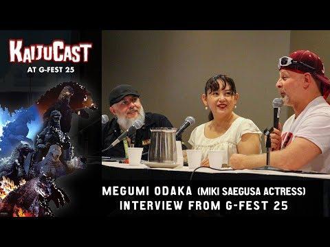Megumi Odaka (Miki Saegusa) Interview panel at G-FEST 25