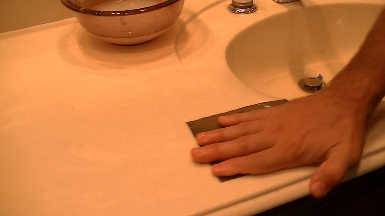 restoring cultured marble countertops polish out scratches yourself