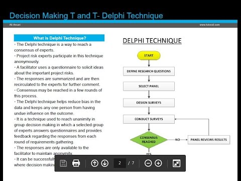 the delphi technique making sense of consensus A widely used and accepted method for seeking consensus among experts within a certain topic area is the delphi technique, developed at the rand corporation in the 1950s (dalkey, 1969) it is based on the principle that forecasts from a structured group of experts are more accurate than those from unstructured groups or individuals.