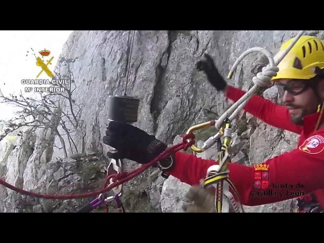 Rescate de una montañera fallecida en Pico Collada (Riaño)
