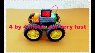 How To Make A 4 By 4 Motor Car At Home Very Easy/how To Make A Car