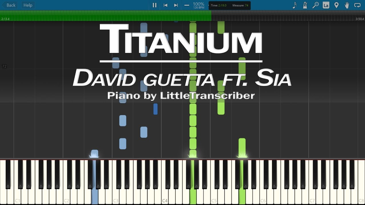 how to play titanium on the piano
