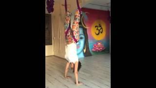 Aerial Yoga, Handstand, Adho Mukha Vrksasana, Hikmet Gurbuz