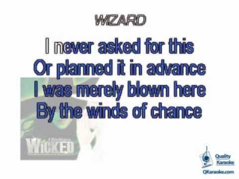 Wicked - Wonderful (Karaoke Instrumental) w/ Lyrics