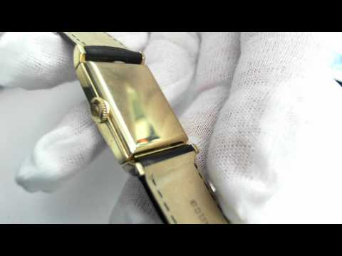 A 14k Yellow Gold Vintage (circa 1951) Hamilton Watch