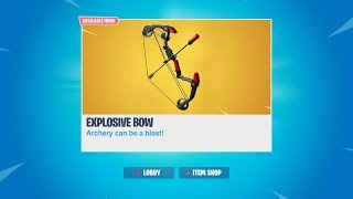 (OCE CUSTOM MATCHMAKING) New EXPLOSIVE BOW In Fortnite! FORTNITE EXPLOSIVE BOW COMING SOON!