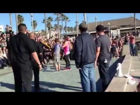 Emblem 3 Surprises Fans At Hunnington Beach Concert