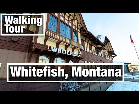4K City Walks: Whitefish Montana Virtual Treadmill Walking Tour