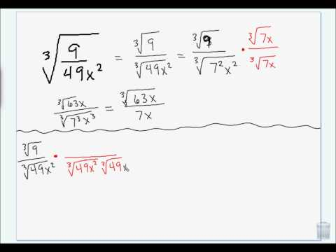 rationalizing the denominator of a higher index radical with