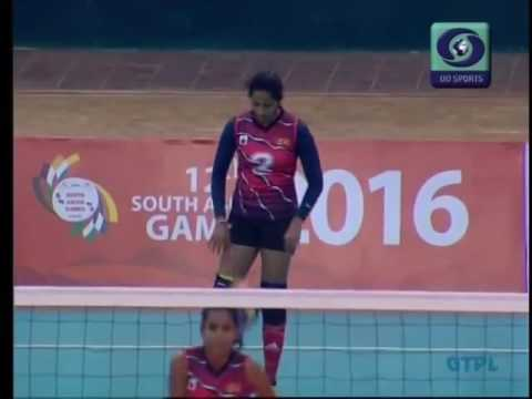 2016   South Asian Games   Volleyball   Women's Final   India vs Sri Lanka