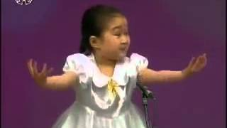 ТВ КНДР Девочка смешно поёт-Sin Mi Song {DPRK Music}