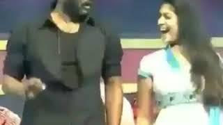 Nayantara and prabudeva dance performance on stage