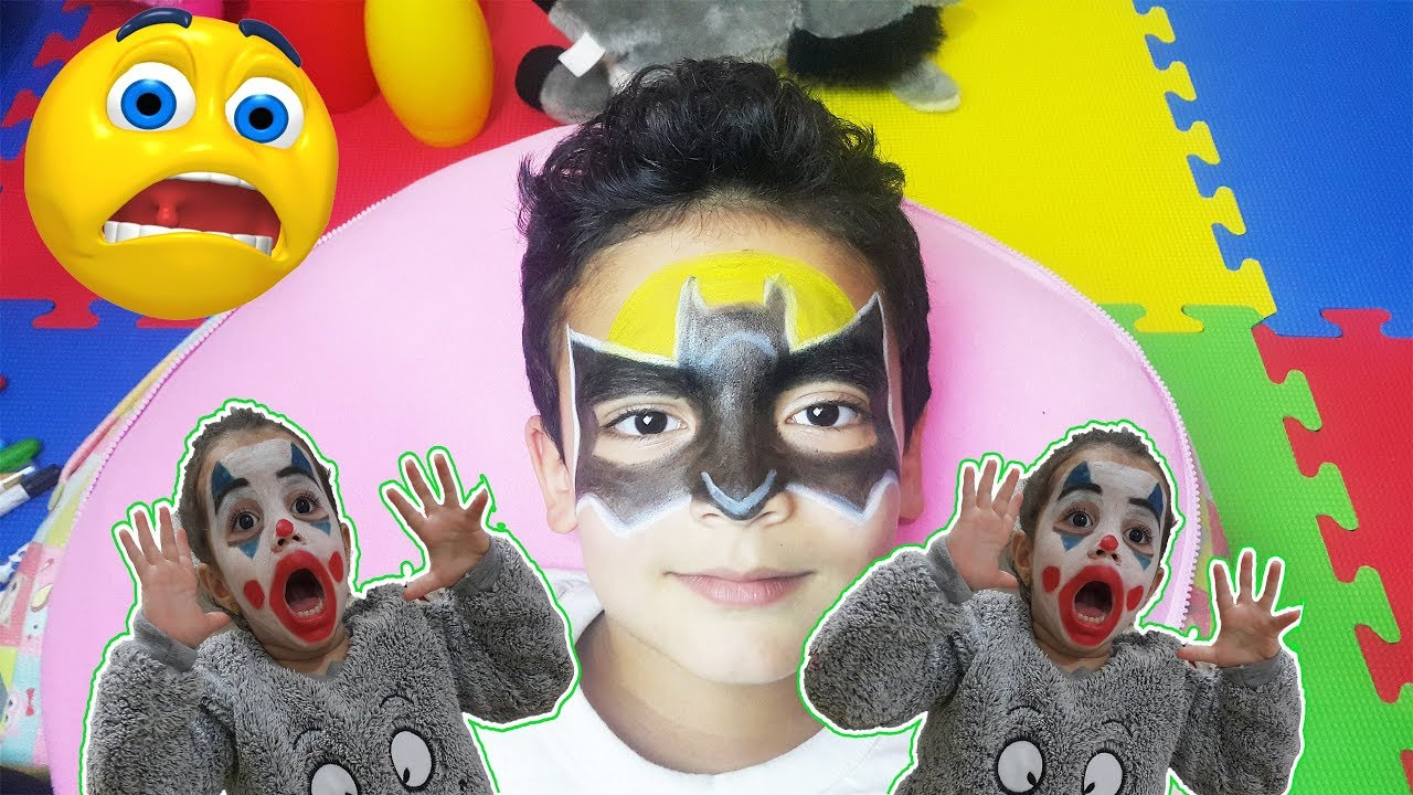 Yüz Boyama Batman Eğlenceli Boyama Youtube