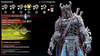 SHADOW OF WAR - NEW UNIQUE SWORD BROKEN OVERLORD EXECUTIONER DIFFICULTY NEMESIS IN DESERT