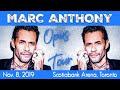 CONCERT REVIEW: Marc Anthony Opus Tour - Toronto - Nov. 8, 2019