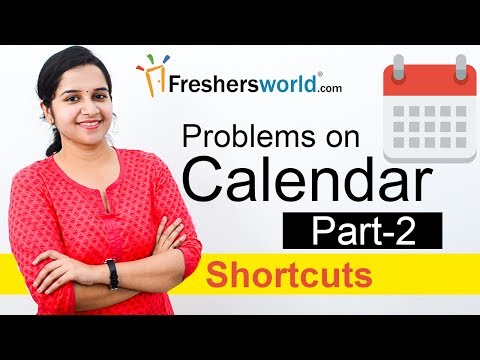 Aptitude Made Easy - Problems on Calendar -2, Basics and Methods, Shortcuts, Time and Date