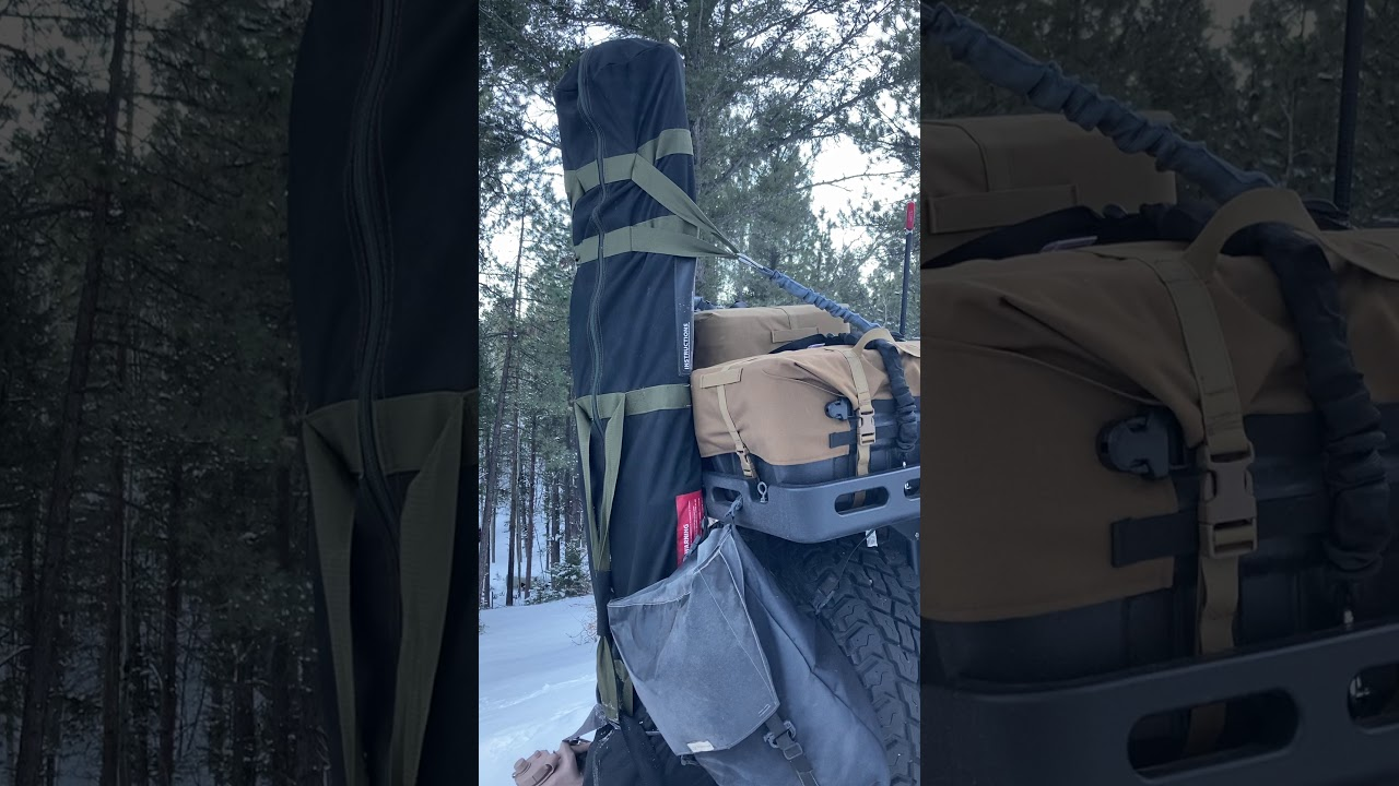 Where there's a will, there's a way. Storage in a 2 Door Jeep Wrangler.