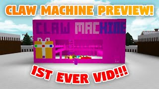 CLAW MACHINE PREVIEW! - Build a Boat ROBLOX (1st Official Upload!)