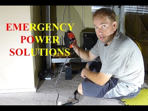 STORM EARTHQUAKE EMERGENCY POWER TUTORIAL DIY SOLAR POWER WIND GENERATOR BANK