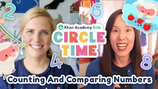 Count & Compare Numbers | Snow Monkey Storytime | Get Well Soon | Circle Time With Khan Academy Kids