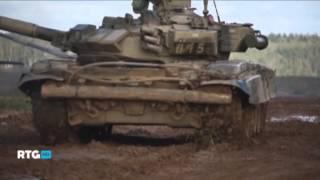танк Т-90. зима-лето