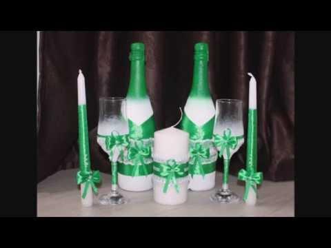 Оформление свадебных бокалов своими руками мастер класс