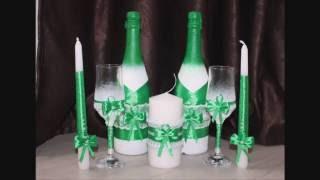 Как сделать свадебные бутылки своими руками МК
